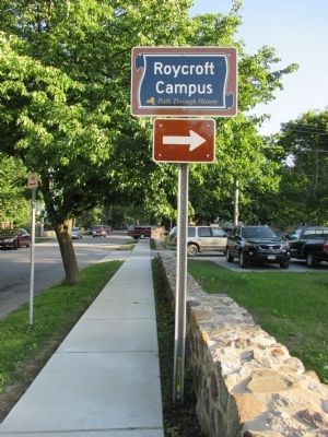 Roycroft Campus Sign image. Click for full size.