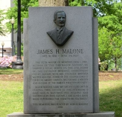 James H. Malone Marker image. Click for full size.