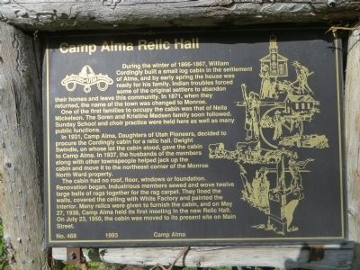 Camp Alma Relic Hall Marker image. Click for full size.