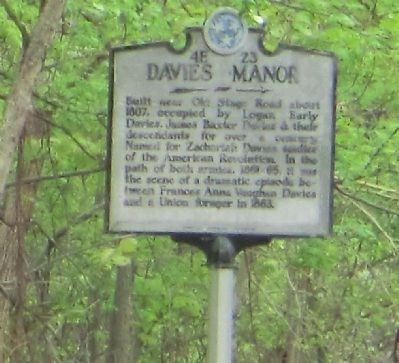 Davies Manor Marker image. Click for full size.