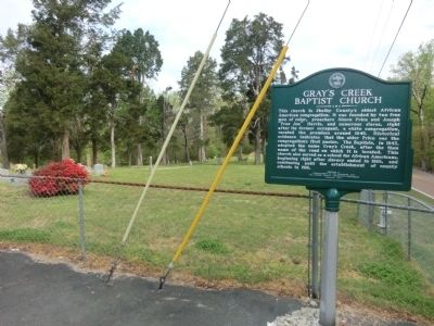 Grey's Creek Baptist Church Marker image. Click for full size.