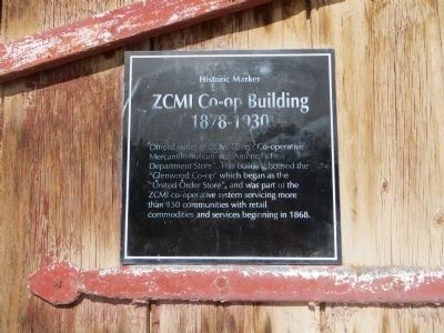 ZCMI Co-Op Building 1878-1930 Marker image. Click for full size.
