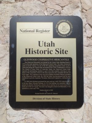 Glenwood Cooperative Mercantile Marker image. Click for full size.