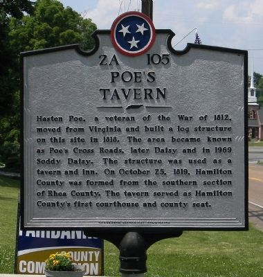 Poe's Tavern Marker image. Click for full size.