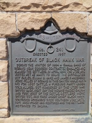 Outbreak of Black Hawk War Marker image. Click for full size.