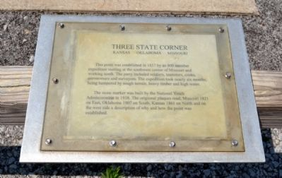 Three State Corner Marker image. Click for full size.