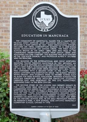 Education in Manchaca Marker image. Click for full size.