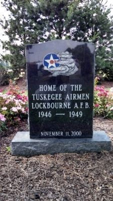 Tuskegee Airmen Memorial Stone image. Click for full size.