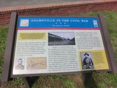 Adamsville In The Civil War Marker image. Click for full size.