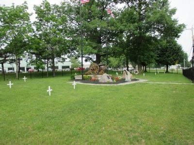 Wider View War of 1812 Cemetery and Markers Square image. Click for full size.