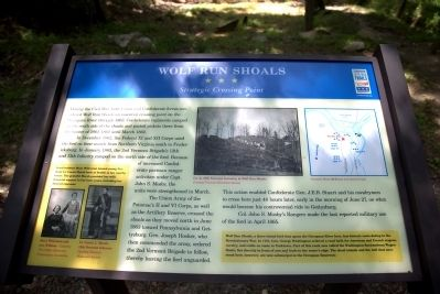 Wolf Run Shoals Marker image. Click for full size.