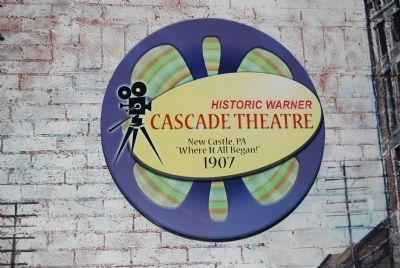 Warner Brothers' First Theater decal image. Click for full size.