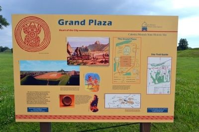 Grand Plaza Marker image. Click for full size.