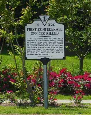 First Confederate Officer Killed<br>B 262 image. Click for full size.