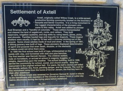 Settlement of Axtell Marker image. Click for full size.