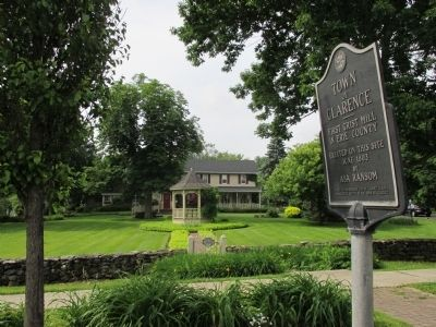 First Grist Mill in Erie County Marker and Asa Ransom House image. Click for full size.