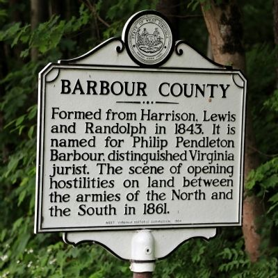 Barbour County Face of Marker image. Click for full size.