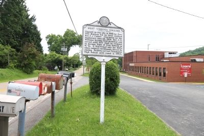 West Virginia College Marker and Flemington Elementary School image. Click for full size.