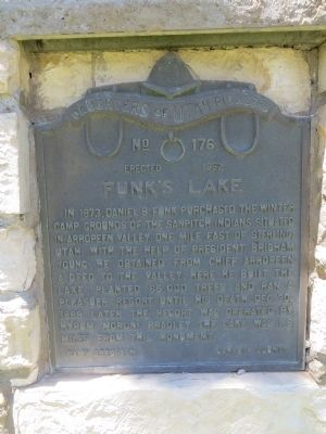 Funk's Lake Marker image. Click for full size.