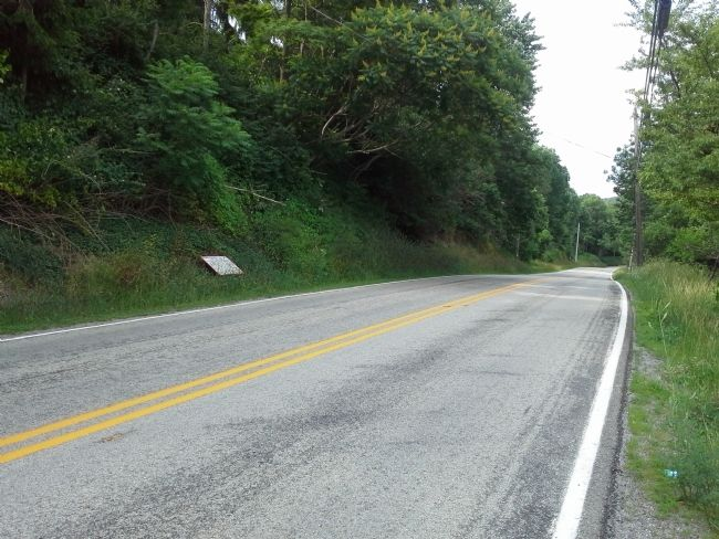 Washington-Braddock Road 1754-55 Marker, facing north. image. Click for full size.