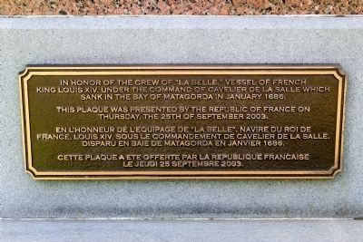 Close up of additional plaque located below the above marker in both english and french image. Click for full size.