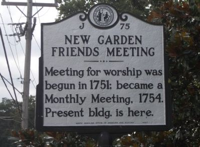 New Garden Friends Meeting Marker image. Click for full size.