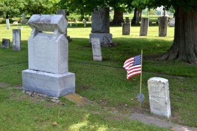 One of Many Civil War Veterans Buried in Leonidas Cemetery image. Click for full size.
