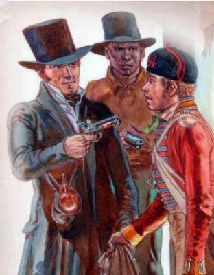 Dr. Beanes and One of His Slaves Capture a British Straggler image. Click for full size.
