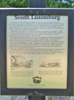 South Luxemburg Marker image. Click for full size.