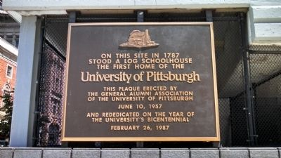 University of Pittsburgh Log Schoolhouse Marker image. Click for full size.