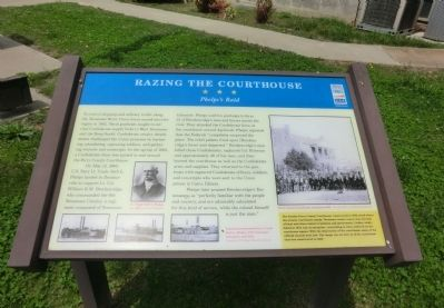 Razing the Courthouse Marker image. Click for full size.