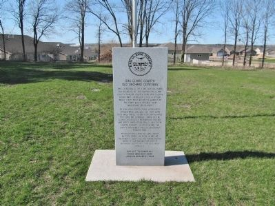 Eau Claire County Old Orchard Cemetery and Marker image. Click for full size.