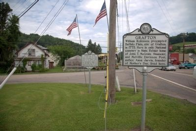 Grafton and Federal Dam Markers image. Click for full size.