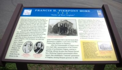 Francis H. Pierpont Home Marker image. Click for full size.