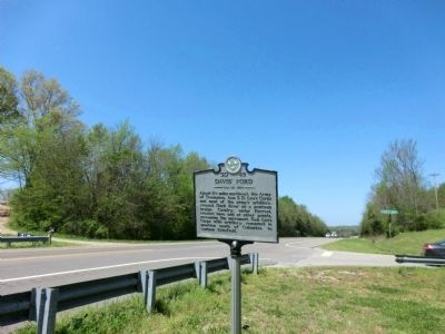 Davis' Ford Marker image. Click for full size.