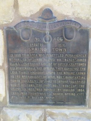 Spring Town Marker image. Click for full size.