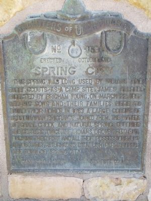Spring City Marker image. Click for full size.