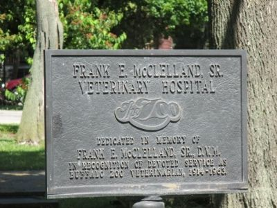 Buffalo Zoo Veterinarian Plaque image. Click for full size.