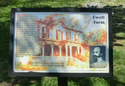 Ewell Farm Marker image. Click for full size.