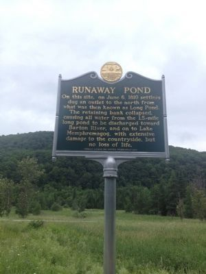Runaway Pond Marker image. Click for full size.