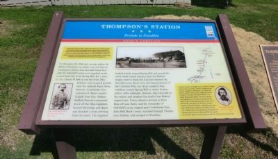 Thompson's Station Marker image. Click for full size.