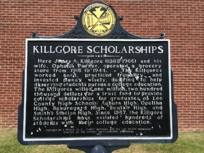 Killgore Scholarships Marker image. Click for full size.