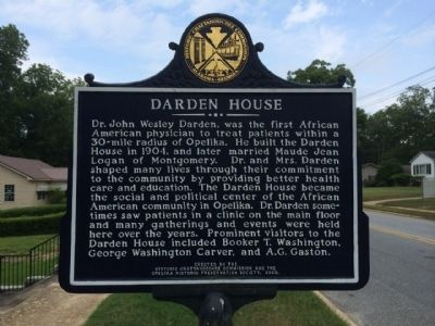 Darden House Marker image. Click for full size.