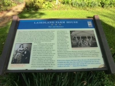 Lairdland Farm House Marker image. Click for full size.