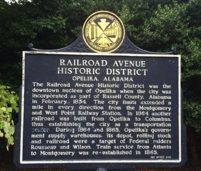 Railroad Avenue Historic District Marker image. Click for full size.