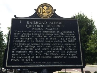 Railroad Avenue Historic District Marker (reverse) image. Click for full size.