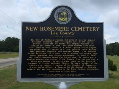 New Rosemere Cemetery Marker image. Click for full size.