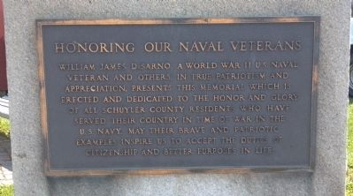 Honoring Our Naval Veterans Marker image. Click for full size.