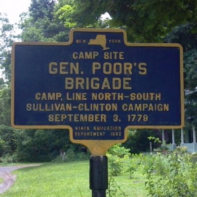 General Poor's Brigade Marker image. Click for full size.