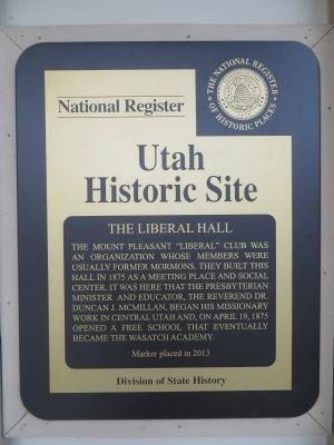 The Liberal Hall Marker image. Click for full size.